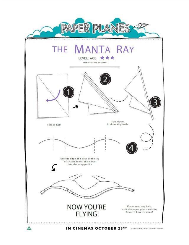 The Manta Ray printable tutorial