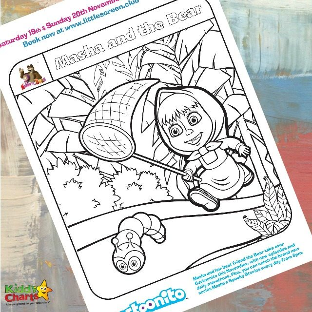 Masha and the Bear Coloring Sheet for Little Ones