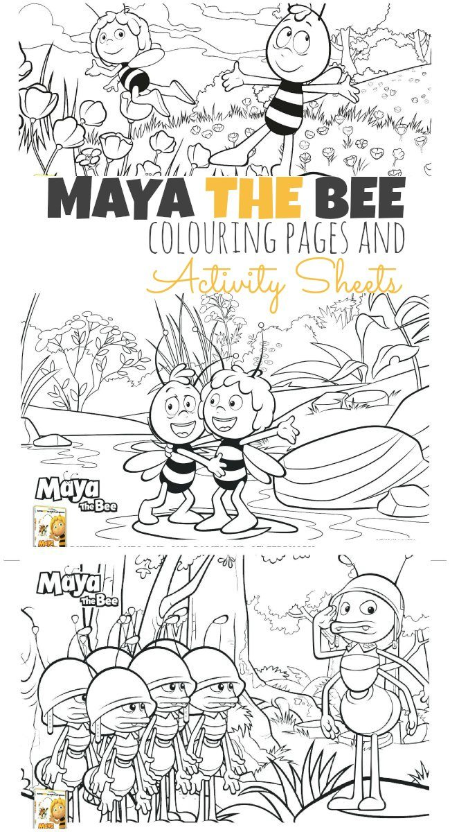 the Bee colouring pages and activity sheets
