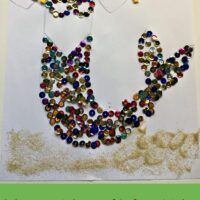 Mermaid craft for kids: Sequins under the sea