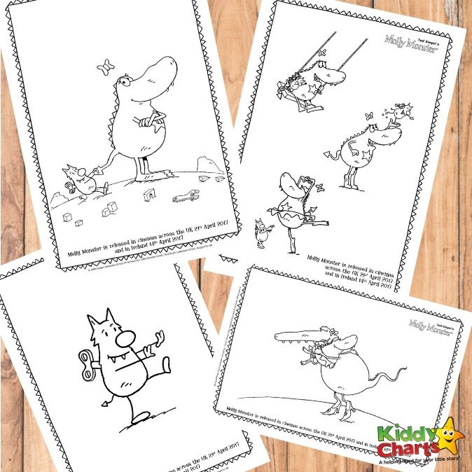 Molly Monster Free Printable Colouring Sheets