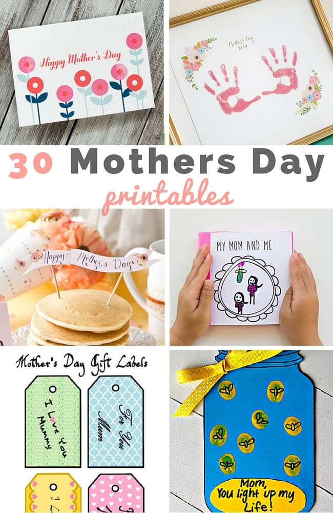 30 Wonderful Mothers day Printables for You and Kids to Enjoy