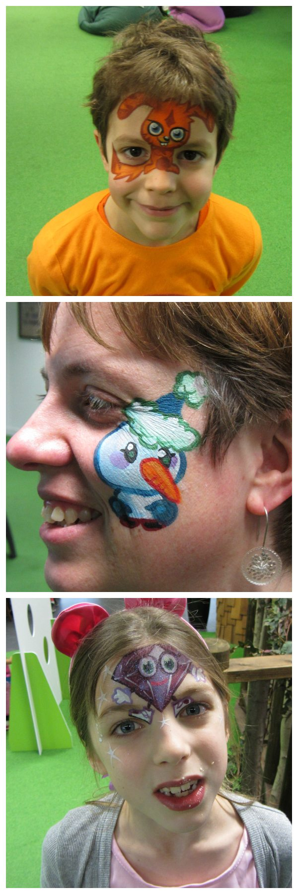 Moshi Monsters Blogger Event: Facepaint Collage