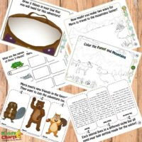 Mountain ecology for kids printables with Myra Makes