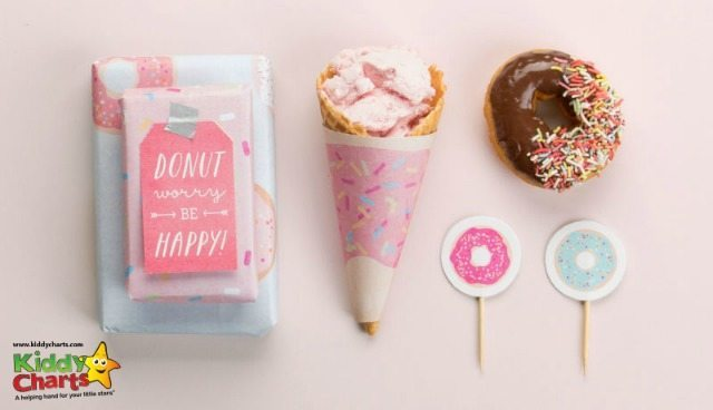 Here are your national donut day party printables - we have a tag, a cone holder and a topper for you. Go on - have a donut!
