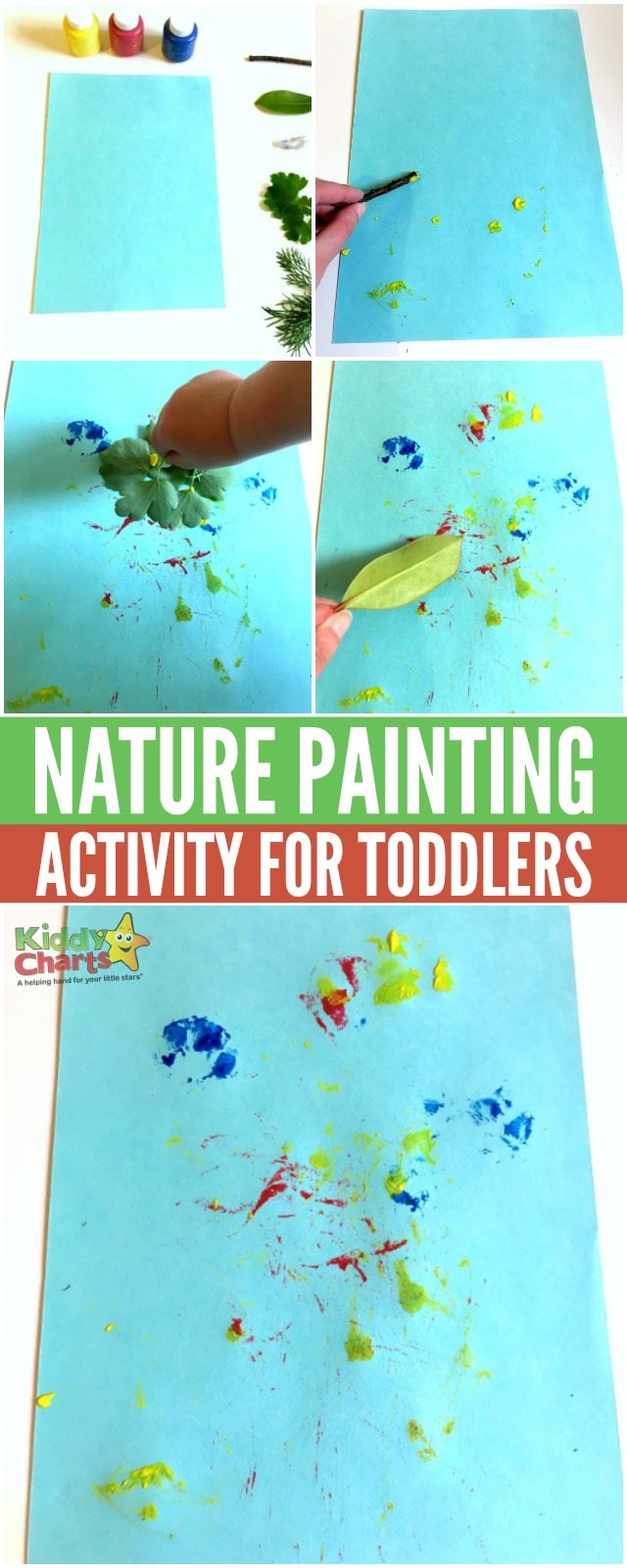 Nature Painting For Toddlers. Super fun activity for toddlers to make. #activityfortoddlers #paintingwithnaturematerials #activityforkids