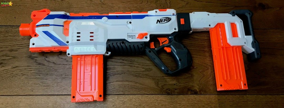 This is the smallest the Nerf gun goes!