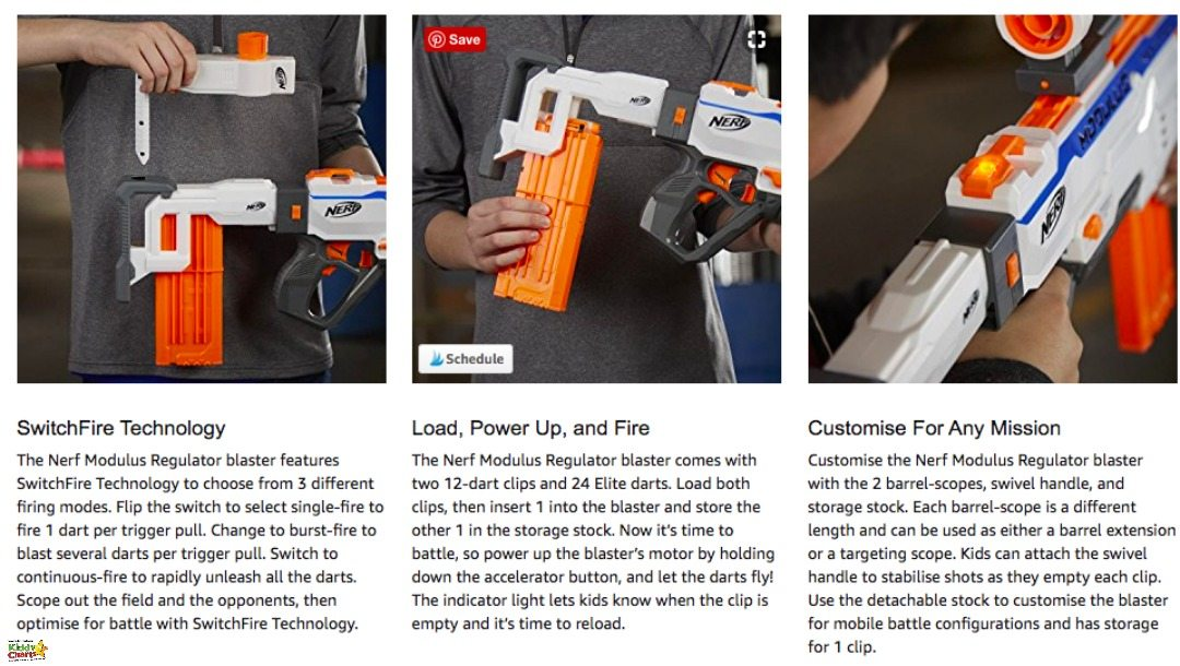 A simpl explaination of the Nerf Gun from Amazon!