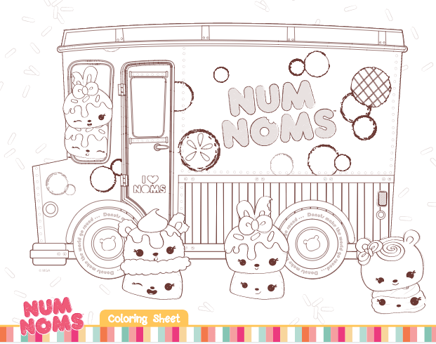 Download this lovely Num Noms Colouring page for your kids to have fun with.