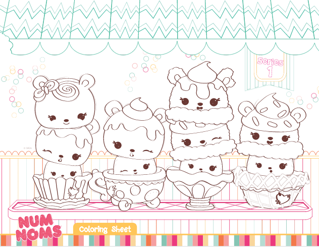 We have a few Num Noms Colouring pages on the site, here is another one. Why not check out the other Num Noms activities too?