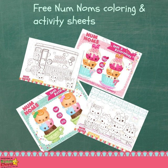 Num Noms coloring & activity sheets