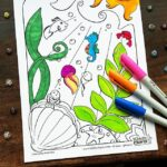 Ocean Coloring Page for Kids