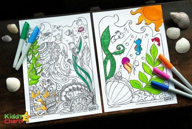 Ocean coloring page 2