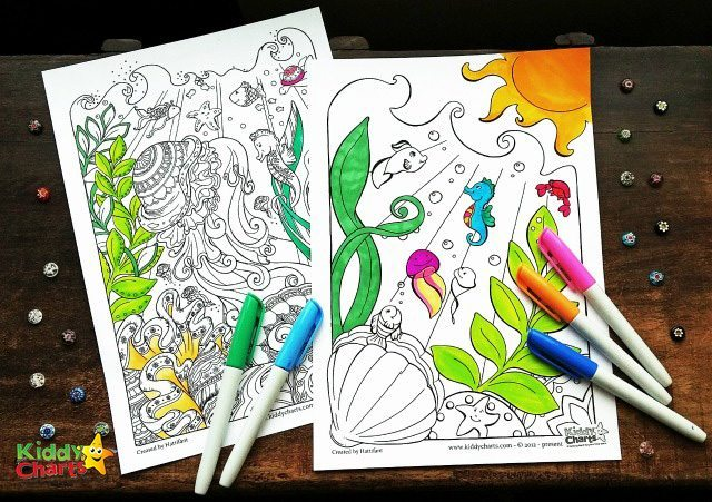 FREE ocean coloring pages for adults free printables