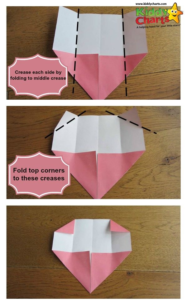 Origami valentine: next steps