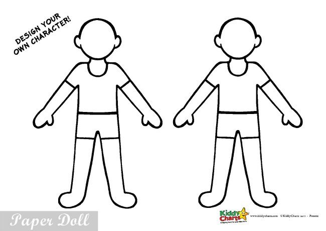 Policeman Paper Doll Cut Out And Colour Kids Activity