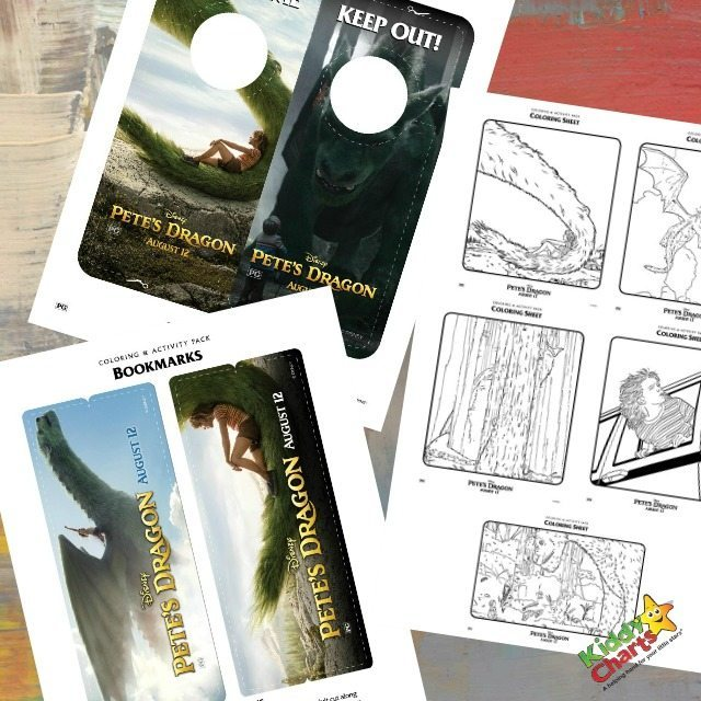 Pete's Dragon Colouring and Activity Sheets for Kids