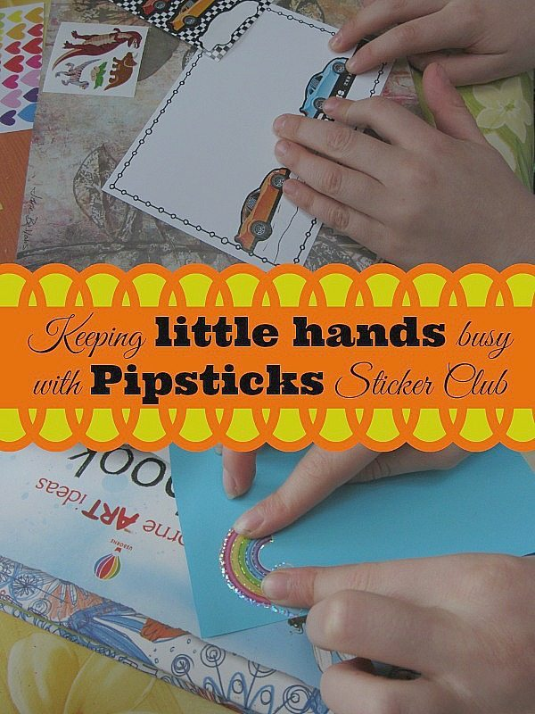 Have you ever heard of sticker clubs for kids? Neither had we until we found out about Pipsticks...monthly stickers for keeping little hands busy and having fun!