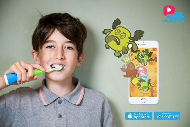 Utoothia is the app, free to download, that you need to use with the Playbrush. Get your kids brushing their teeth the right way by zapping the Playbrush Crobius!