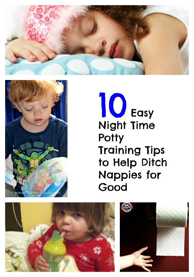 If you're searching for night time potty training tips look no further! Here are 10 of the most useful suggestions from real parents to help you get rid of nappies forever.