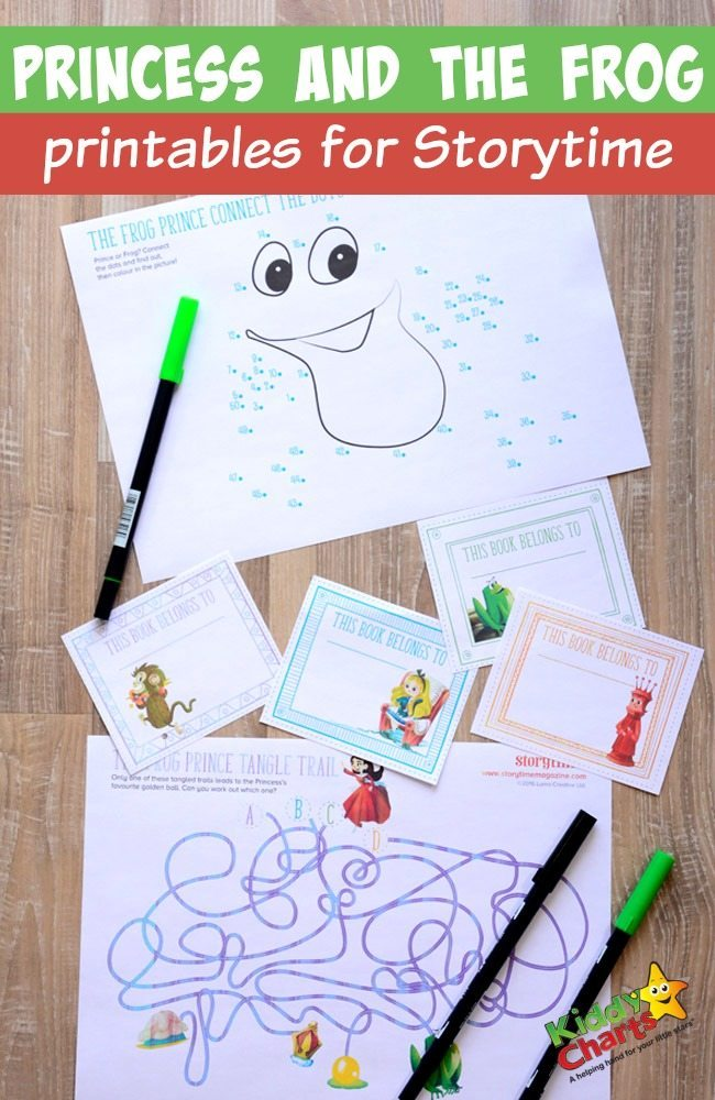 Princess and the frog printables for Storytime for little ones