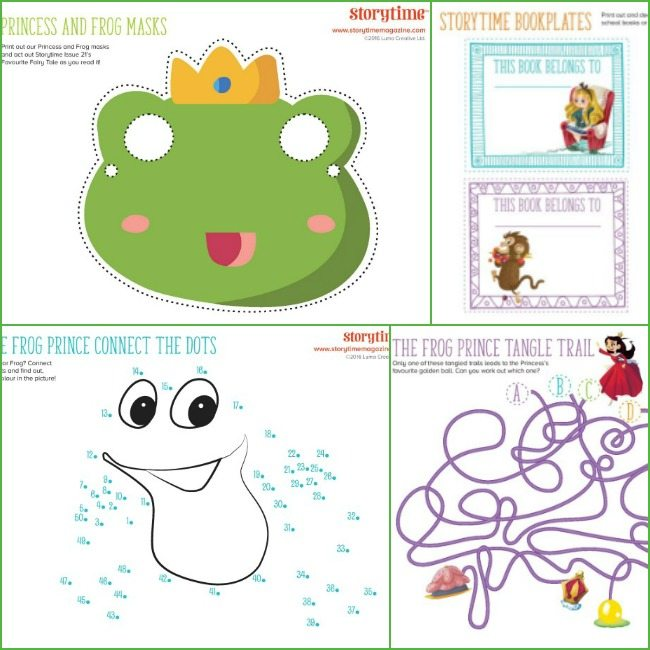 Princess and the frog printables