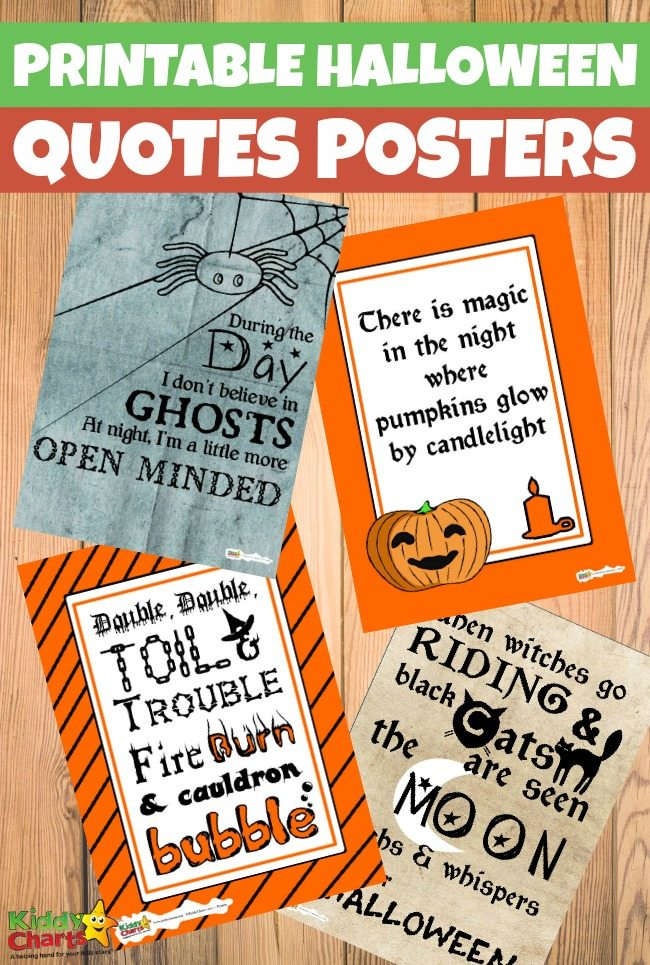 Printable Halloween quotes posters for kids
