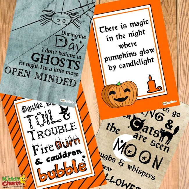 Printable Halloween quotes posters