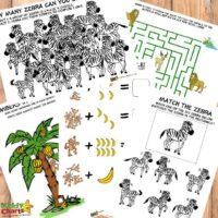 Jungle activity sheets