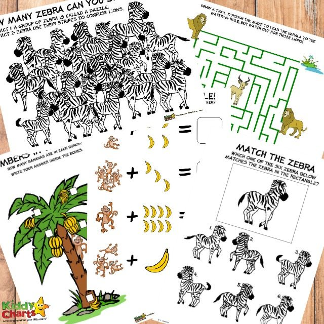 Printable Jungle Activity Sheets