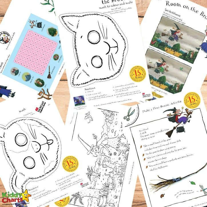 Printable Room on the Broom activities