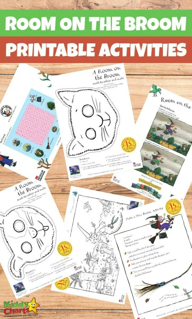 Printable Room on the Broom activities for kids
