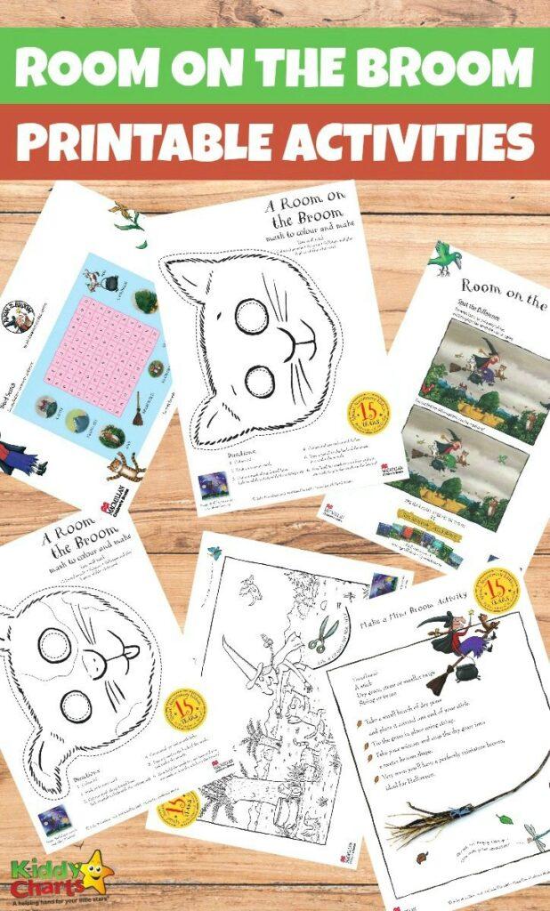 Printable Room on the Broom activities for kids