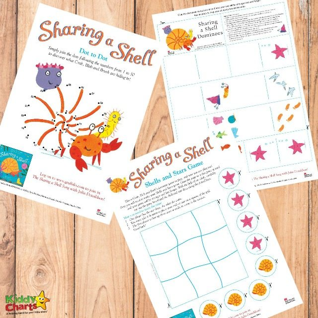 Printable Sharing a Shell Activities