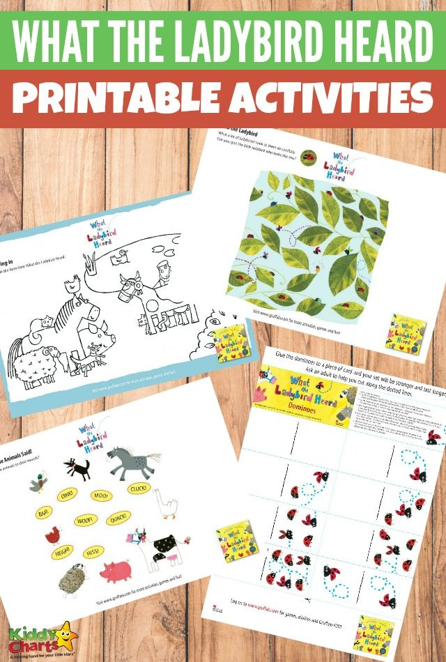 Printable What the Ladybird Heard Activities for Kids