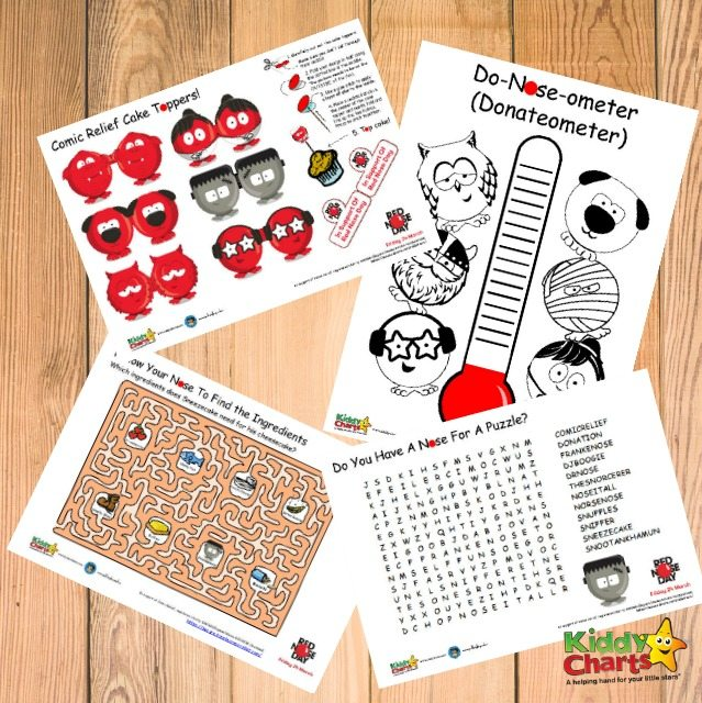 red nose day free printable activities - Free Printable Activities