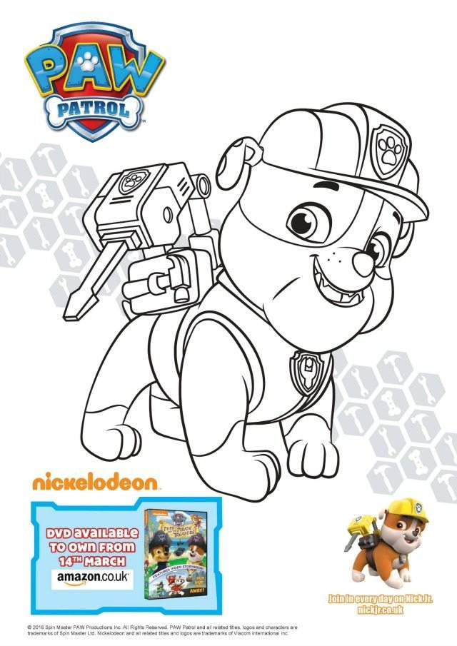 Rubble Colouring Page