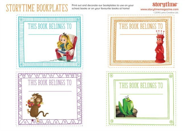Bookplate for kids
