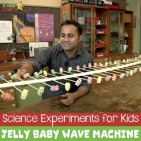 Science experiments for kids: Jelly Baby wave machine