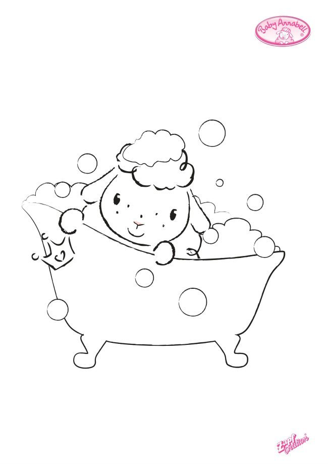 Sheep coloring page number 2