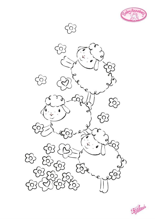Sheep coloring page number 1