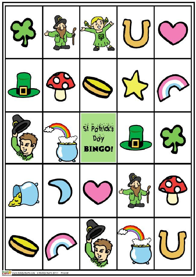 St Patricks day bingo game