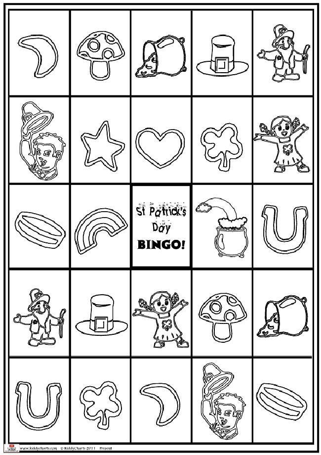 St Patricks day bingo game
