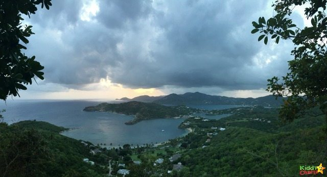 A beautiful view, as the sun goes down over Shirley Heights in Antigua.
