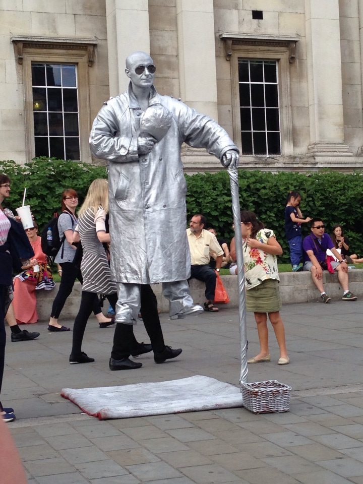 London with kids: Silver Man