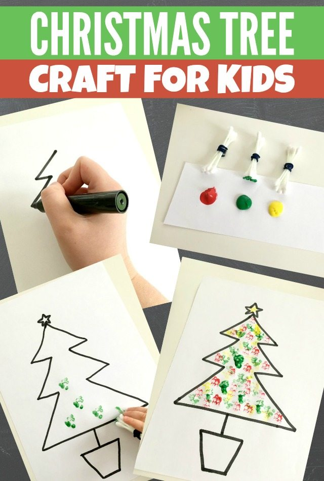 Simple Christmas Tree craft for kids to make