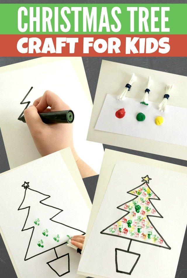 Simple Christmas Tree craft for kids to make