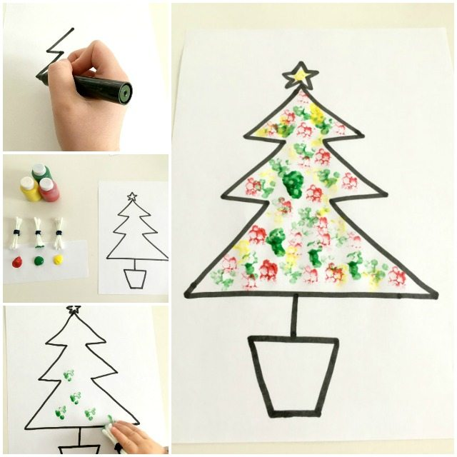Simple Christmas Tree craft for kids