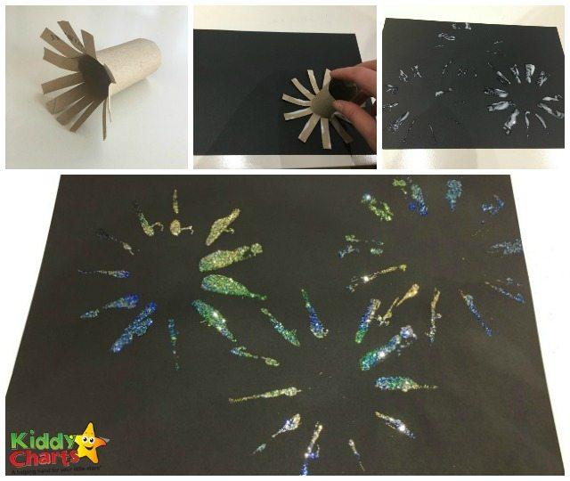 Simple fireworks craft for kids