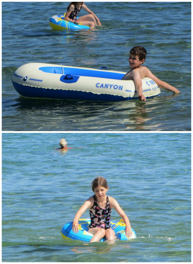 You can see how much fun there was to be had on the calm seas at Cavalaire Sur Mer for the kids, can't you?